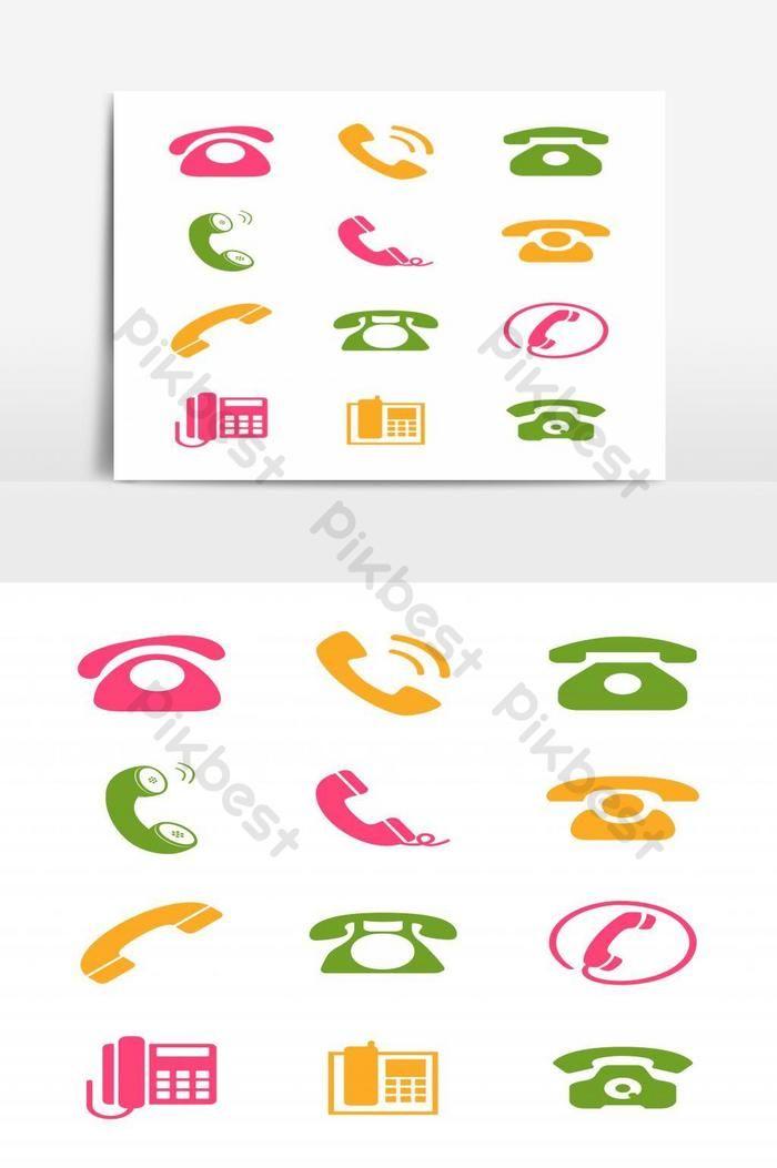 مجموعة من عناصر رموز رموز الهواتف صور Png Eps تحميل مجاني Pikbest Symbols Cards Elements