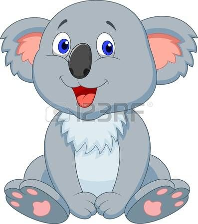 Lindo koala de dibujos animados photo