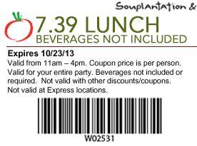 photograph relating to Souplantation Printable Coupons named Souplantation printable coupon codes 2018 : Ninja cafe nyc