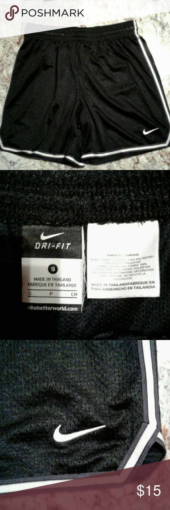 Women's Nike basketball shorts Excellent condition no holes or stains, or snags, size small black Nike drifit basketball shorts. Nike Shorts