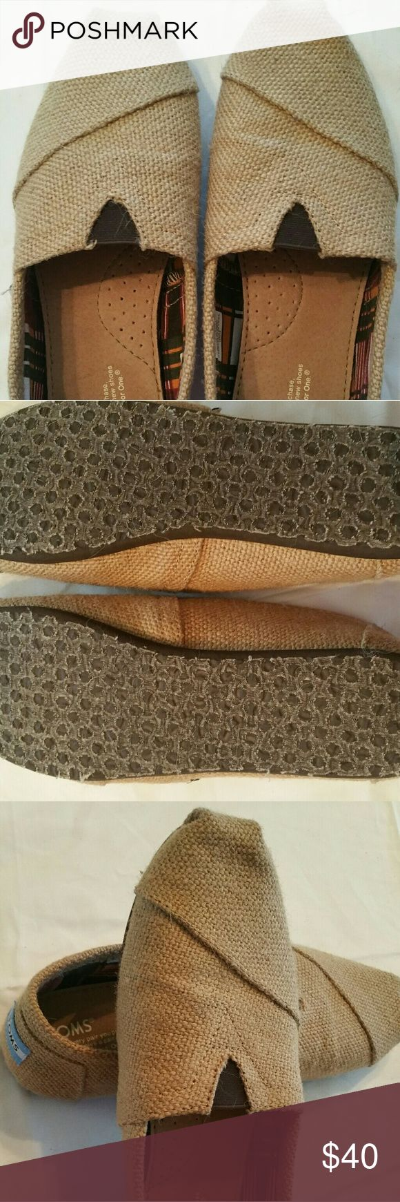 NIB Burlap Tom's Size 8.5 NIB Never worn. Burlap Tom's Great for Summer Toms Shoes Flats & Loafers