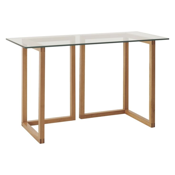 buy office desk natural. kusa small glass and oak trestle desk buy office natural o