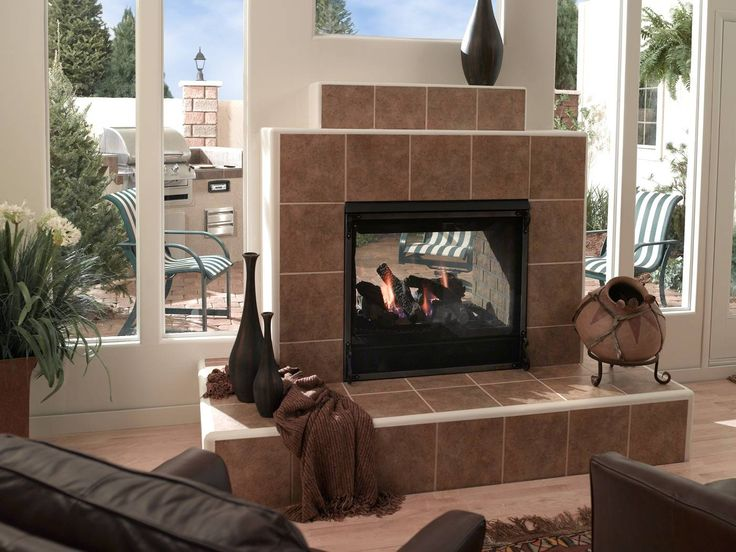 11 best Multi-Sided Fireplaces images on Pinterest   Gas ...