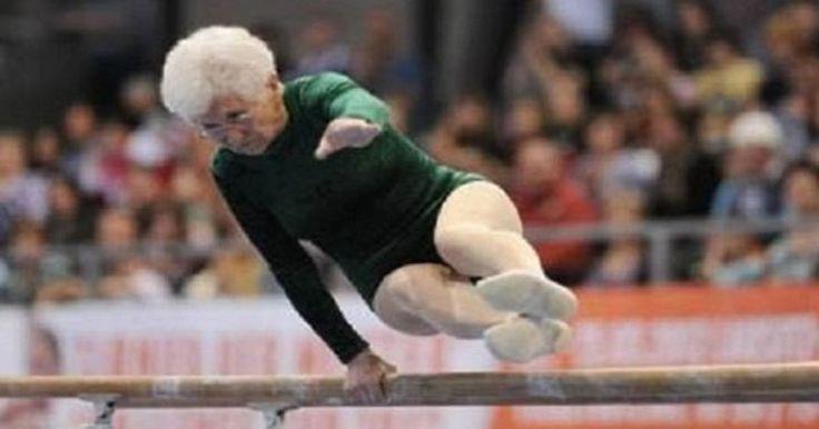Esta annciana de 86 años, dejo al público boquiabierto cuando salió a hacer su rutina en la competencia Cottbus World Cup 2012. Vistiendo un elegante atuendo verde, la señora Johanna Quaas realizó su rutina con gran fluides, elegancia y facilidad.  Ella solía ser maestra de gimnasia y competir nacionalmente, muchos dirían que es tiempo de que ella se retire por su salud, pero ella simplemente no quiere hacerlo. Empezó a practicar la gimnasia deportiva tarde, con 20 años, lleva más de 60…