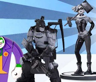 Grand Prize: A $554.65 Batman Black & White statue by Kim Jun Gi; Batman Black & White Harley Quinn statue by Lee Bermejo; The Art of Wonder Woman statue by Robert Valley; Green Arrow & Black Canary statue by Cliff Chiang; Justice League Tarot Deck; a...