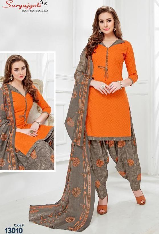 61f31f7809 Suryajyoti Patiyala Kudi Vol-13 Dress Material (10 pc catalog ...