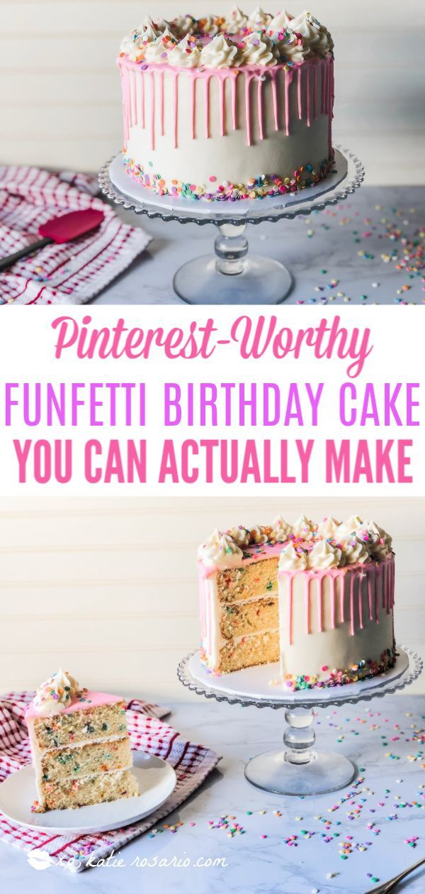 Miraculous Foolproof Funfetti Birthday Cake Recipe With Images Small Funny Birthday Cards Online Elaedamsfinfo