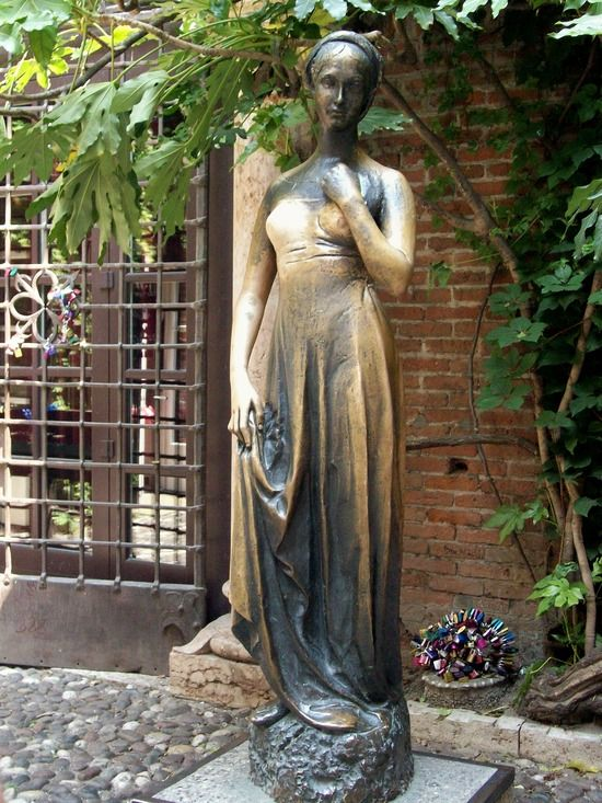 Verona, Italy (Juliet's statue- Thousands have written letters for Juliet wishing for