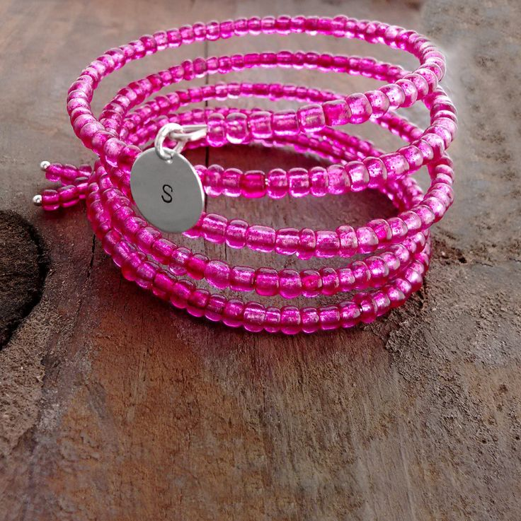 Excited to share the latest addition to my #etsy shop: Pink Bracelet, Pink Jewelry, Custom Bracelet, One Size Fits All, Wire Wrap Bracelet, Made in USA, Animal Rescue, Hot Pink, ilovemydogjewelry http://etsy.me/2nG7ry8 #jewelry #bracelet #pink