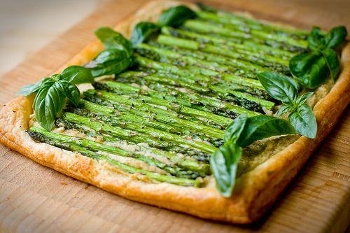 Asparagus and White Bean Pesto Tart