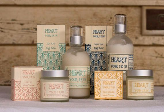 Heart your skin, from australia - nice packaging & graphic design
