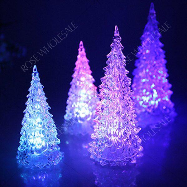 Colors Changing Led Lights Mini Christmas Tree White Mobile Colorful Christmas Tree Led Color Changing Lights Mini Christmas Tree