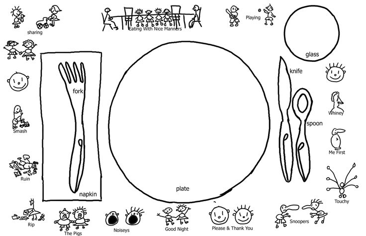 kids table manners coloring pages - photo#33