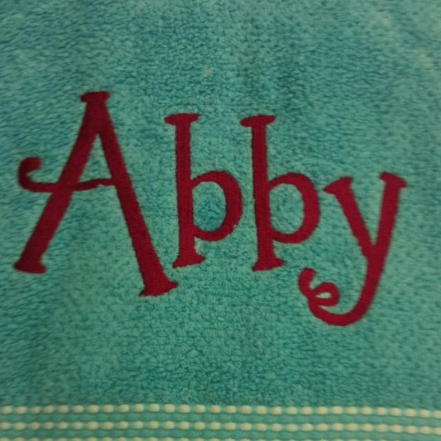 cute monogram for beach towels - Monogrammed Beach Towels