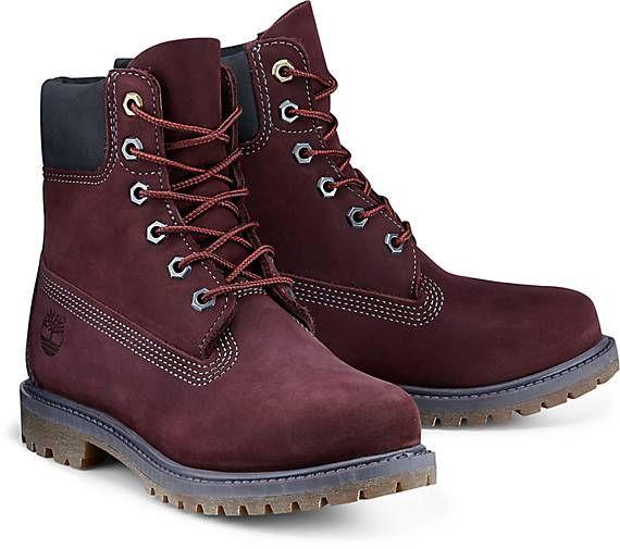 "Timberland Boots PREMIUM 6"" dunkelrot"