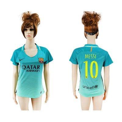 Barcelona Fodboldtøj Dame 16-17 Lionel MeSSi 10 TRødje Trøje Kortærmet.  http://www.fodboldsports.com/barcelona-fodboldtoj-dame-16-17-lionel-messi-10-trodje-troje-kortermet.  #fodboldtrøjer