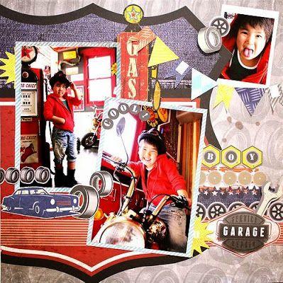 Colorful Days: Kaisercraft DTワーク<Garage Daysシリーズ>