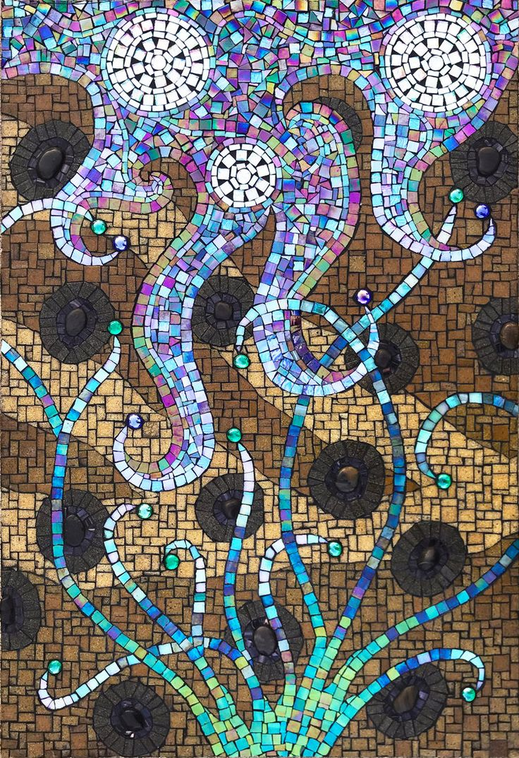 Cycles Mosaic by mosaic artist Dyanne Williams