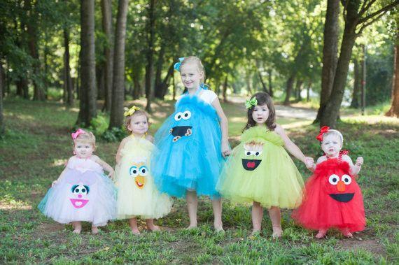 Sesame Street Character Inspired Tutu Costume Dresses