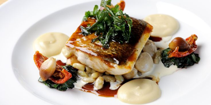 Mark Dodson presents a delightful wintry sea bass recipe, perfect for a gourmet fish supper
