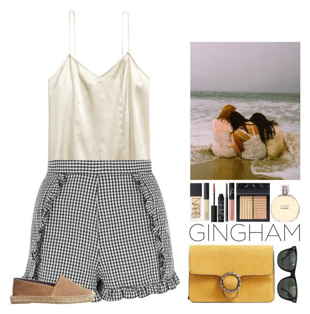 """""""Cait."""" by noemiecalot ❤ liked on Polyvore featuring Topshop, MANGO, Ray-Ban, NARS Cosmetics and Chanel"""