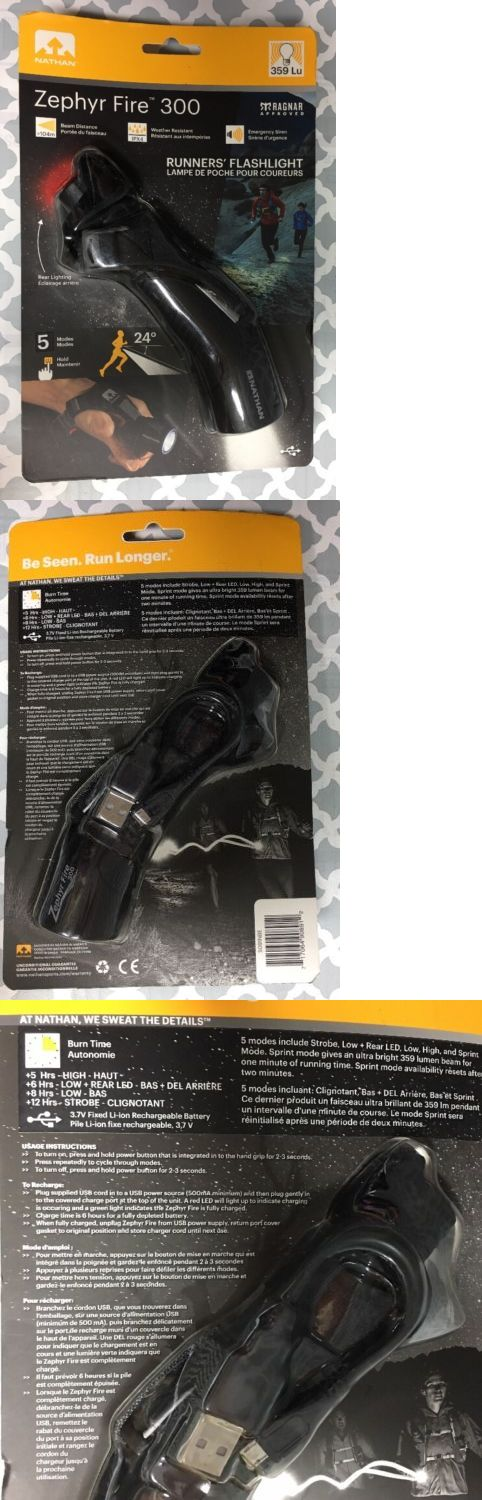 Safety and Reflective Gear 158951: Nathan Zephyr Fire 300 Hand Torch Rechargeable Running Flashlight Black 5091Nbe -> BUY IT NOW ONLY: $40 on eBay!