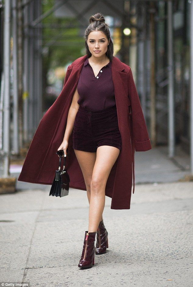 Fashion savvy: Olivia Culpo put on an incredible fashion display as she strutted around Manhattan on Thursday