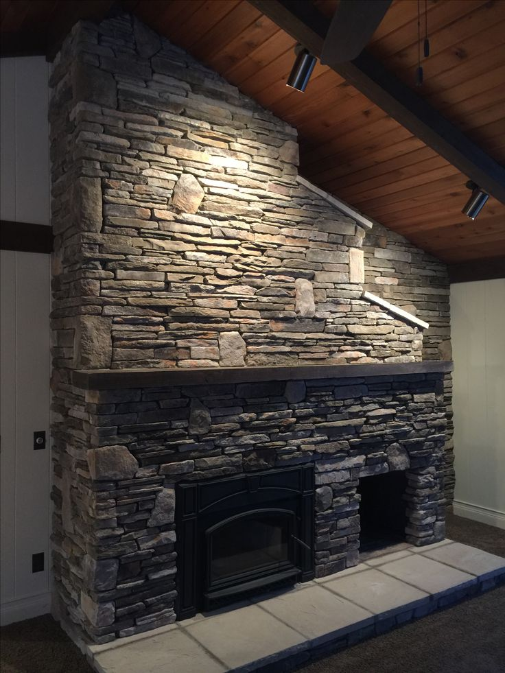 17 Best ideas about Stone Veneer Fireplace on Pinterest ...