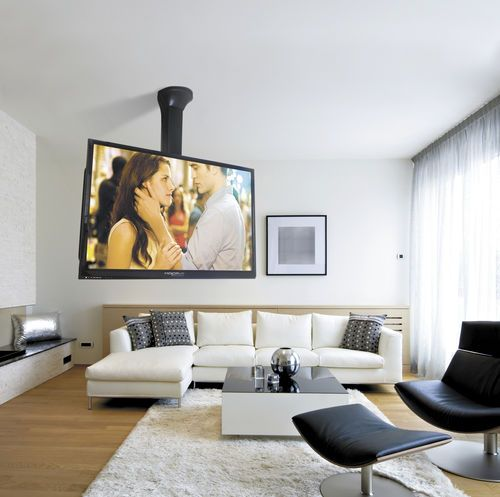 Contemporary tv ceiling mount remote controlled for Chief motorized tv mount