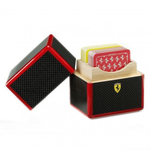 Ferrari Store: Ferrari carbon fibre playing card case.
