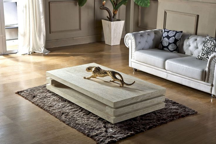High End Living Room Furniture Iran Travertine Stone Coffee Table ...