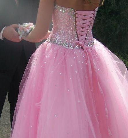 The Modern Princess ♕ :: Pink Sequin Corset Tie Back Dress