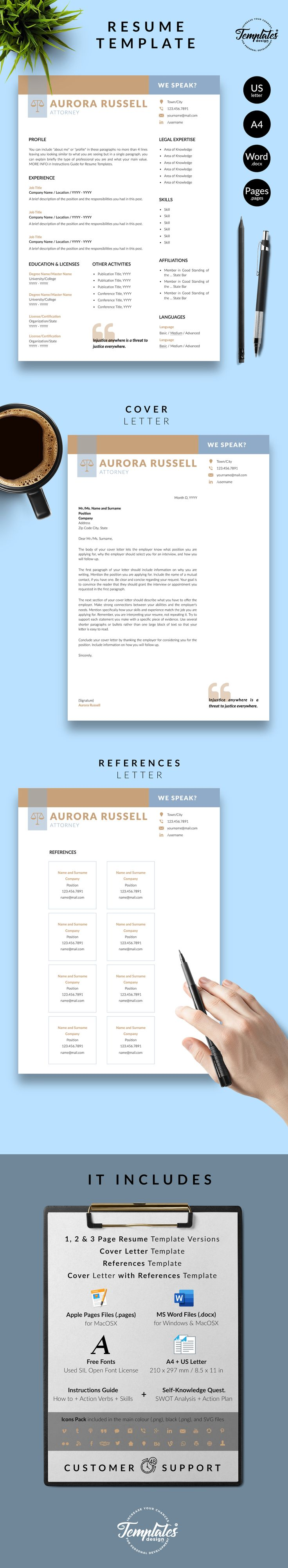 Attorney resume template for word pages professional