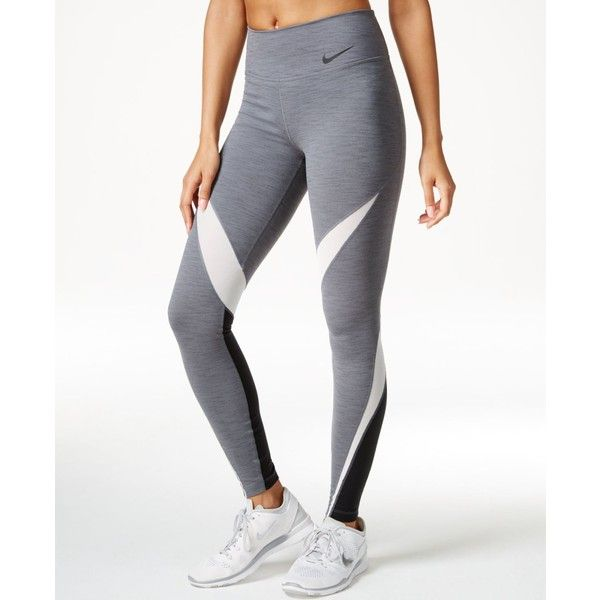 Nike Legendary Legendary Twist Leggings ($70) ❤ liked on Polyvore featuring  pants, leggings