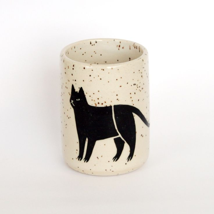 Keep Company Ceramics — Speckled cat mug