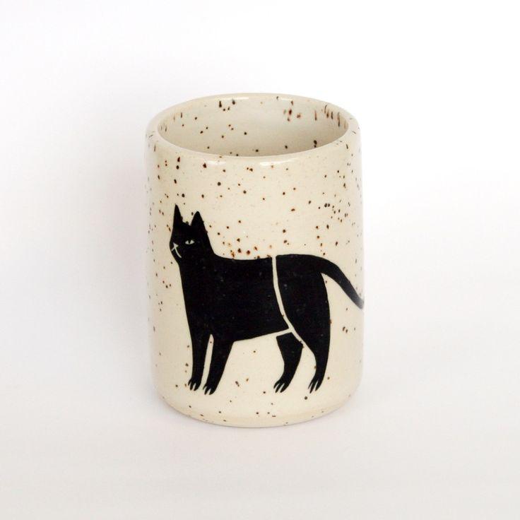Keep Company Ceramics — Speckled cat mug