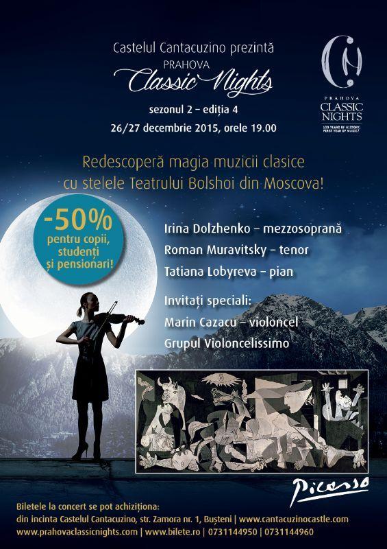 Duminica, 27 Decembrie 2015, ora 19:00, Castelul Cantacuzino, Busteni