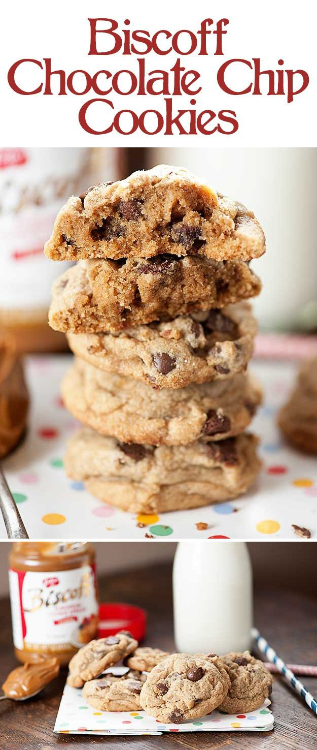 Biscoff Chocolate Chip Cookies | Cookie recipes, Chocolate chips and ...