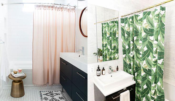 Badkamer opfleuren? Wel met deze douchegordijnen