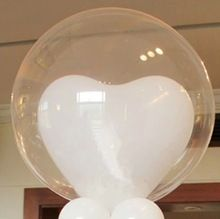 Nueva! venta al por mayor globos grandes 36 pulgadas grande gigante Clear Transparent latex Balloon fiesta de boda bolas 10 unids/lote envío gratis(China (Mainland))