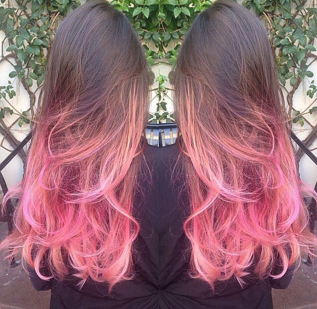 Brown To Pink Ombr 233 Beauty Pinterest Brown Heart