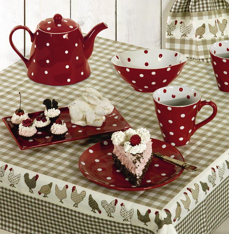 Die Tisch ist gedeckt, ein leckeres Stückchen Kuchen - eine Tasse Kaffe, gleich ein Punktsieg! - gefunden auf www.county-garden.de