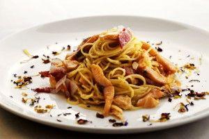 Spaghetti alla carbonara di lago
