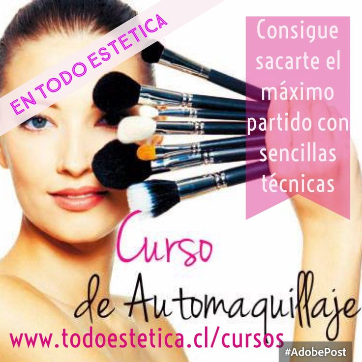 Curso de Automaquillaje días jueves. Primera fecha 7 de enero 2015. Info en www.todoestetica.cl/cursos inscripciones y reserva wsp 69008626 Las Condes