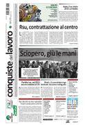 La prima pagina di Conquiste del Lavoro del 18 febbraio 2015