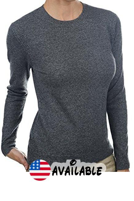 17cf7411611c B01MG2H4QM   Balldiri 100% Cashmere Kaschmir Damen Pullover Rundhals  2-fädig mit Bündchen anthrazit meliert S. Cashmere Sweater Cardigan Ba…    Sweaters