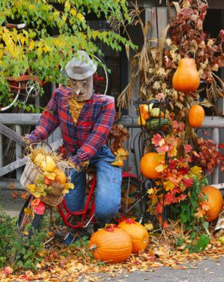 128 best fall decorating ideas images on pinterest fall fall halloween and decorating ideas - Outside Fall Decorations