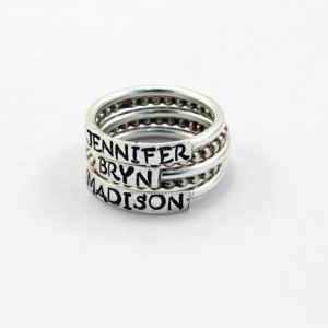 Beautifully handcrafted rings! You can have your children's, your grandchildren, or your fur babies names put onto a ring! 20% off when you use the promo code: gift20 at checkout