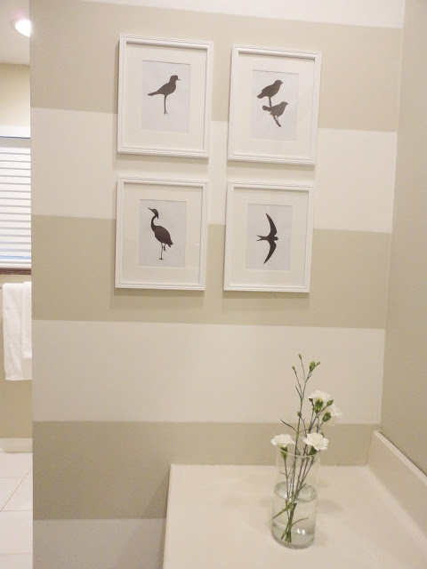 Bathroom Vanities : Bathroom Paint Ideas Makeover With Almond Brown White  Color And Bird Picture On Simple Frame Bathroom Makeovers On A Budget For  Guest ...