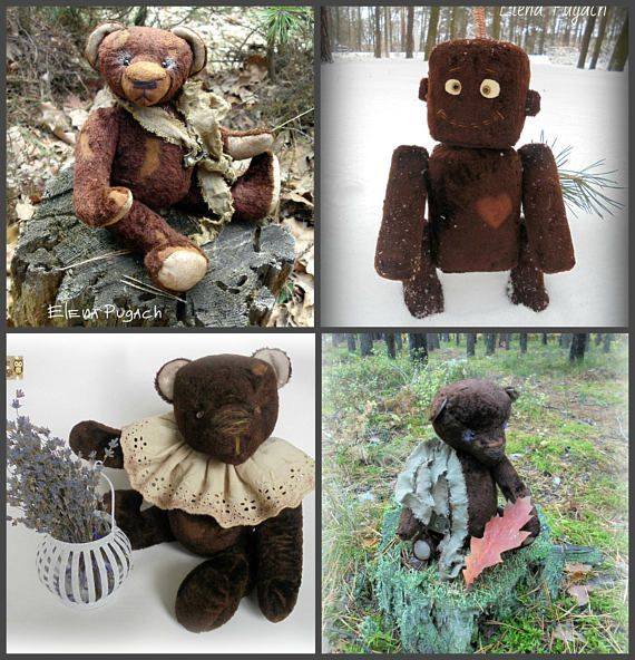 40% OFF Wholesale Set of 4 artist teddy bears Vintage teddy